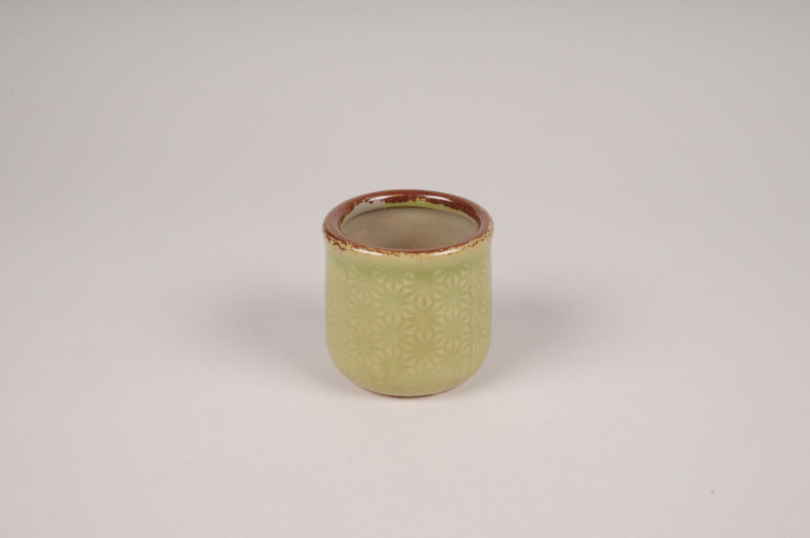 A212NM Cache-pot en céramique vert D8cm H7.5cm