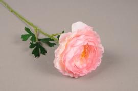 a212nn Renoncule artificielle rose H45cm