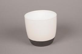 A215HX White ceramic planter D14cm H13cm