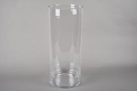 A215I0 Vase verre cylindre D29cm H70cm