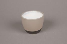 A216HX Grey ceramic planter D7.5cm H6cm