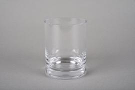 A216I0 Pot en verre épais D7.5cm H11cm