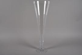 A218I0 Vase en verre flûte D26cm H85cm