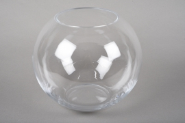 A219I0 Glass bowl vase D27cm H23cm