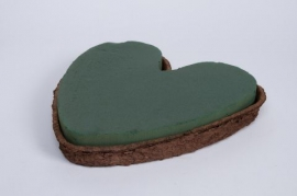 A220QV Pack of 3 floral foam little heart 28x26cm H4cm
