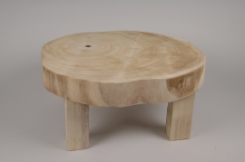 A221KI Table basse en bois D50cm H22cm