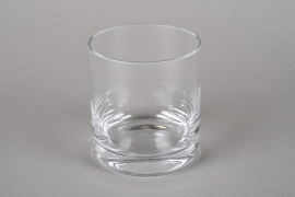 A222I0 Cylindric glass vase D8.5cm H10cm