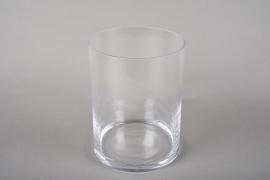 A223I0 Cylindric glass vase D15cm H20cm