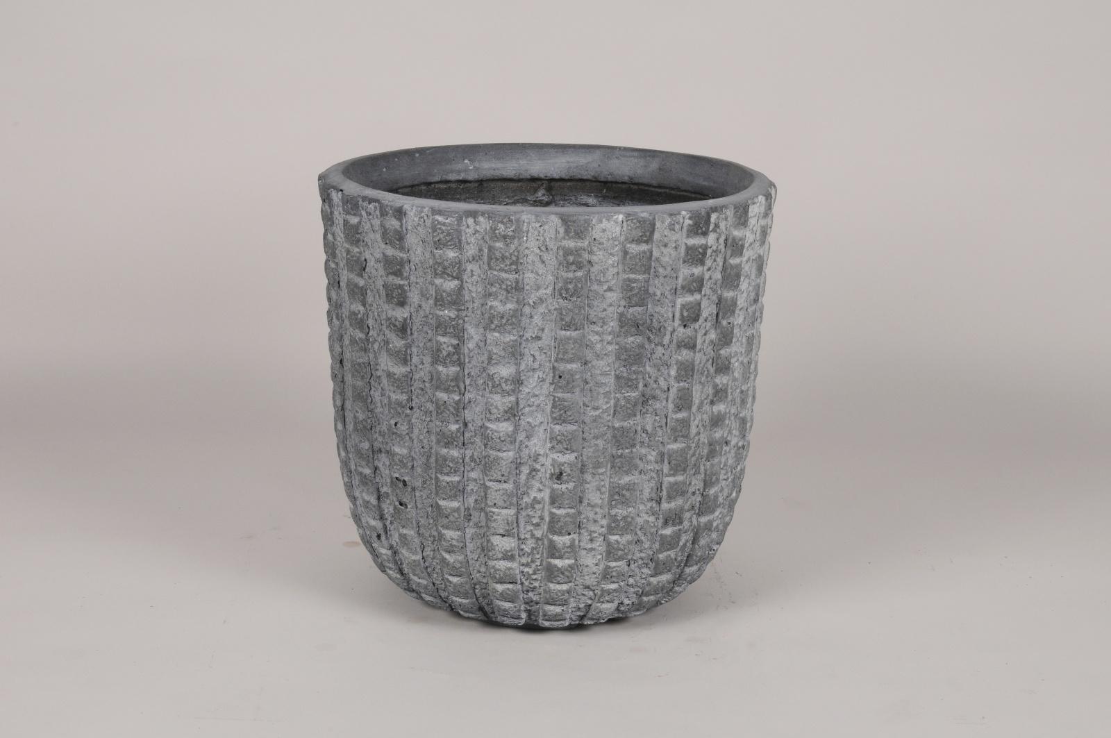 A224NM Pot en béton gris D32cm H31cm