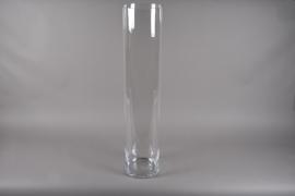 A225I0 Vase en verre cylindre D24.5cm H120cm