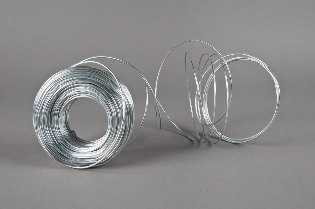 A225MG Fil aluminium argent 2mm 500gr 60m