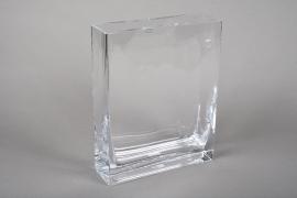 A226I0 Jardinière en verre 20x6cm H25cm
