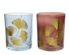 A230KI Assorted glass candle jar D7cm H8.5cm