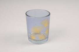 A230KI Photophore en verre bordeaux assortis D7cm H8.5cm