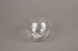 A231I0 Glass bowl vase D11cm H8.5cm