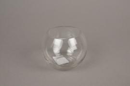 A231I0 Vase en verre boule D11cm H8.5cm