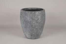 A231NM Pot en béton gris D32cm H38cm