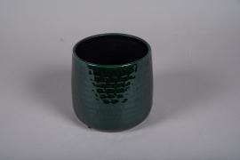 A233DQ Cache-pot en céramique vert D17cm H16cm