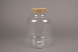 A234I0 Bocal en verre avec bouchon en liège D21cm H31cm