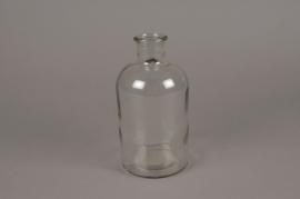 A240I0 Glass bottle vase D10cm H20cm