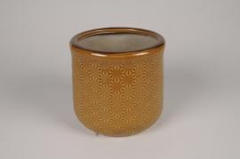 A240NM Cache-pot en céramique safran D19cm H18cm