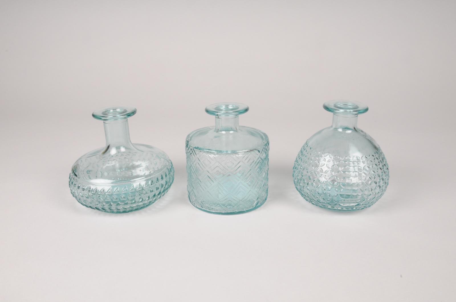 A244DQ Vase bouteille en verre D13cm H12cm