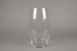 A246I0 Vase en verre obus D20cm H35cm
