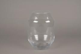 A248I0 Vase en verre obus D19cm H25cm