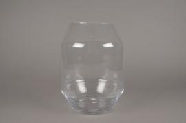 A249I0 Vase en verre obus D25cm H33cm