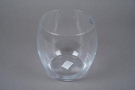 A251DQ Vase en verre obus D19cm H19cm