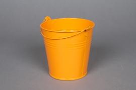 A253KM Seau en zinc mandarine D11 H10cm
