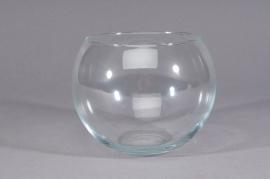 A254IH Vase en verre boule D10cm H7cm