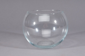 A254IH Vase glass sphere D10cm H7cm