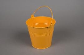 A254KM Seau en zinc mandarine D13cm H12cm