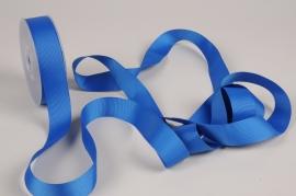A254UN Ruban gros grain bleu 25mm x 20m