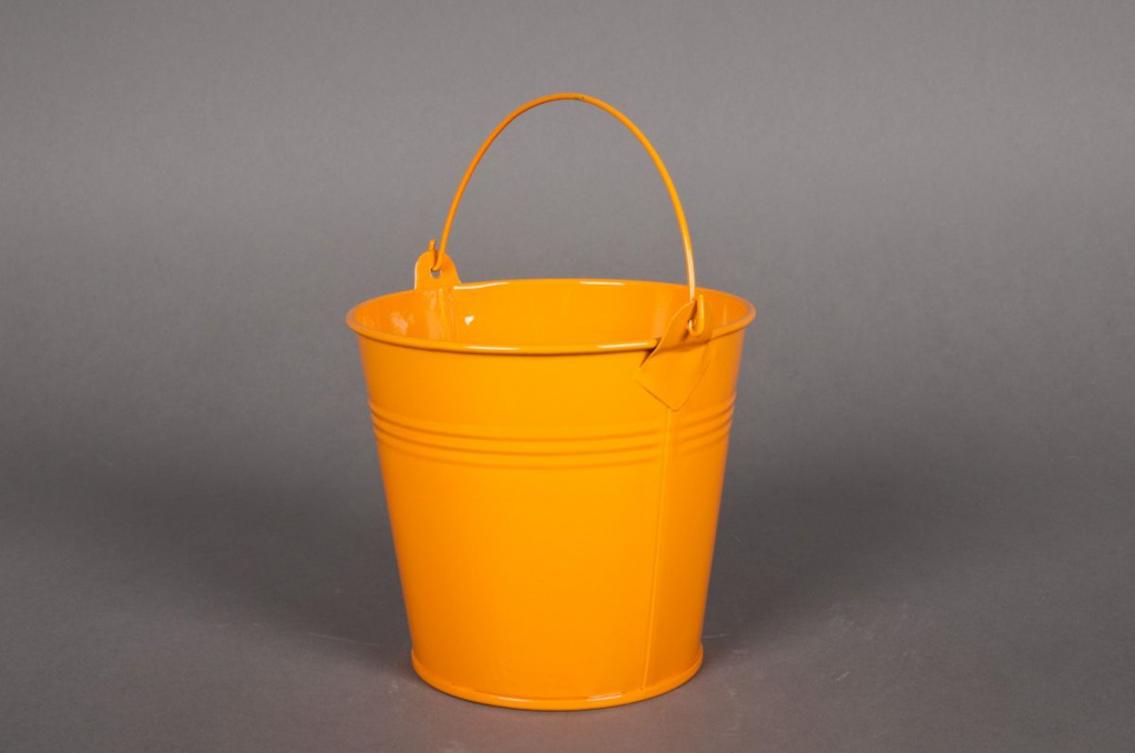A255KM Seau en zinc mandarine D16 H14cm