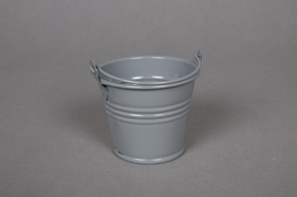 A256KM Zinc bucket grey D6cm H5,5cm