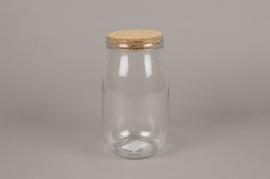 A258I0 Glass jar with cork D11cm H21cm