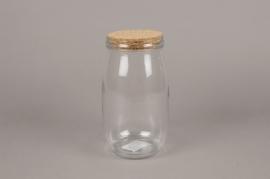 A258I0 Bocal en verre avec bouchon en liège D11cm H21cm