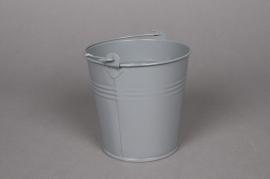 A258KM Zinc bucket grey D11 H10cm