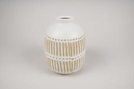 A259DQ Vase en céramique blanc D15cm H20cm