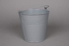 A259KM Zinc bucket grey D13cm H12cm