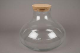 A260DQ Vase en verre avec bouchon D36cm H26 cm
