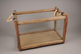 A260U7 Wooden and glass window-box 54x31cm H36cm