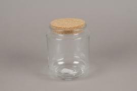 A261I0 Bocal en verre avec bouchon en liège D12cm H16cm