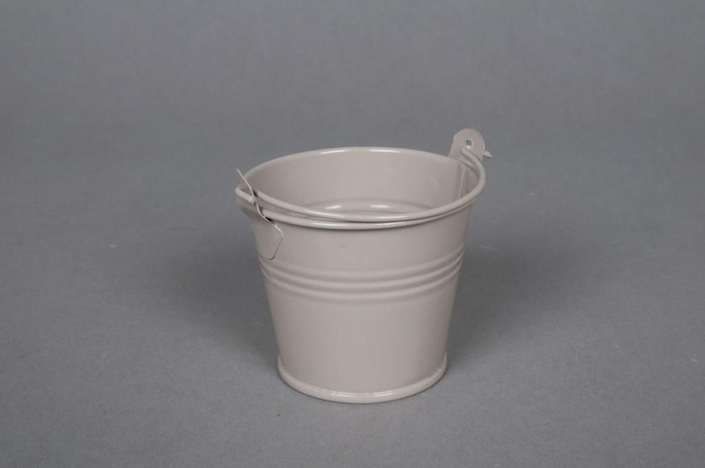 A261KM Zinc bucket taupe D6 H5,5cm