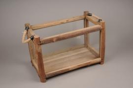 A261U7 Wooden and glass window-box 44x24cm H30cm