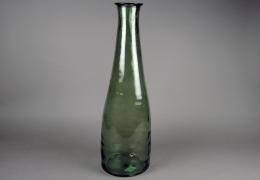 A262DQ Vase bouteille en verre vert D20cm H79cm
