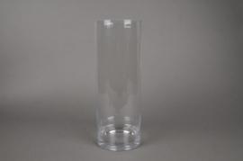A263I0 Vase verre cylindre D24.5cm H40cm