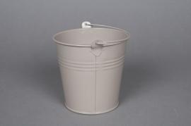 A263KM Zinc bucket taupe D11cm H10cm